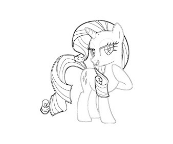 #9 Rarity Coloring Page