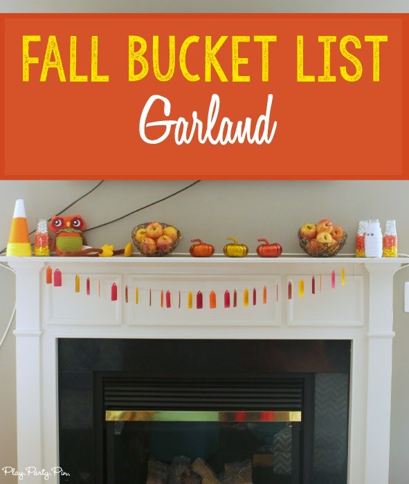 Great family night idea, write a fall bucket list then hang as a decorative garland for everyone to see