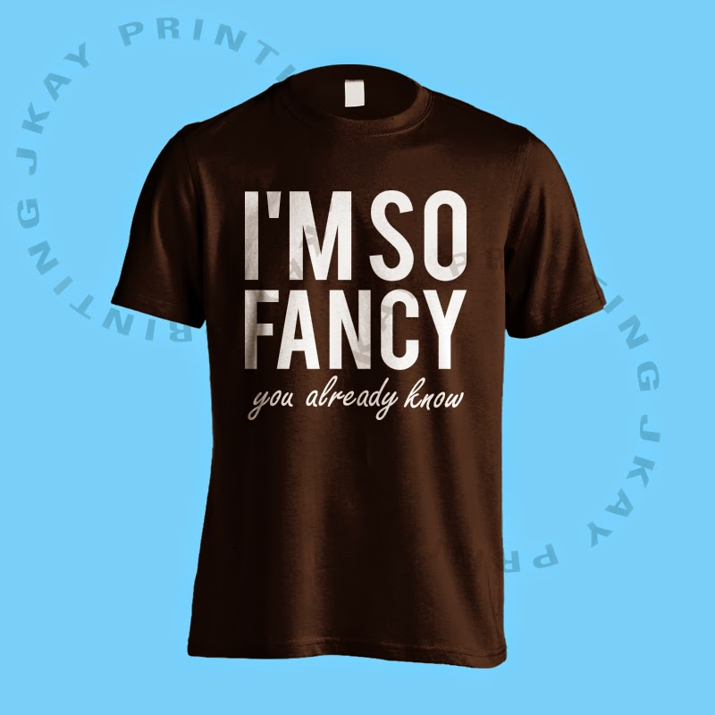 I'm So Fancy - Black Tshirt