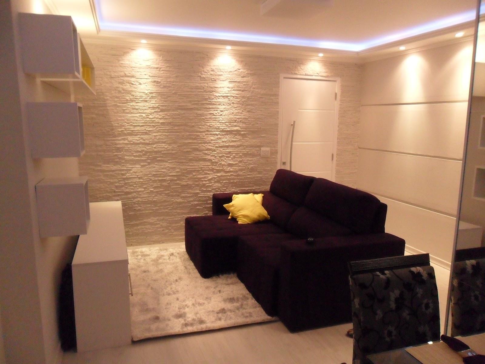 Sala Pequena Decorada Dicas De Decorao De Salas Pequenas Leia  -> Como Decorar Uma Sala De Estar Muito Pequena