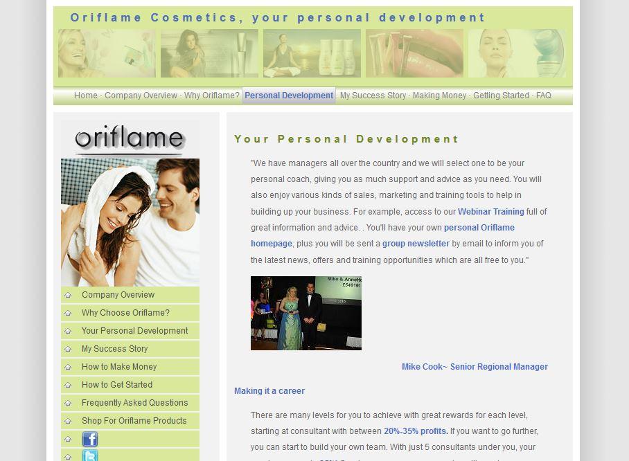 Oriflame business plan