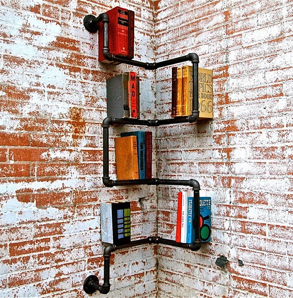 Industrial Corner Shelf