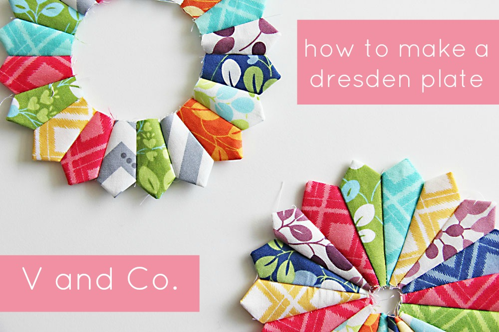 V And Co V And Co How To Make A Dresden Plate - Dresden plate template
