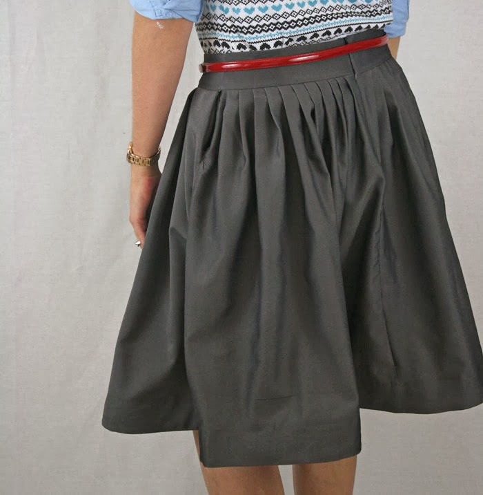 running with scissors pleated skirt