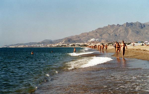 Playa desnuda en la ciudad del cabo
