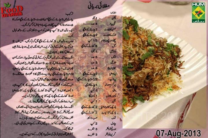 Food Diaries Pakistani Food
