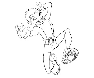#5 Beast Boy Coloring Page