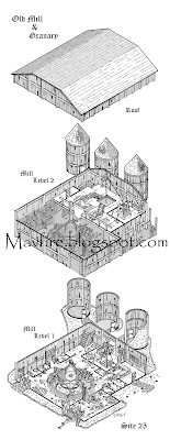 Old Mill Granary Isometric by Del Teigeler, Mavfire
