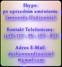 Kontakt Skype Telefoniczny E-Mail - WAŻNE - Dołącz zdjęcie z widocznymi oczami