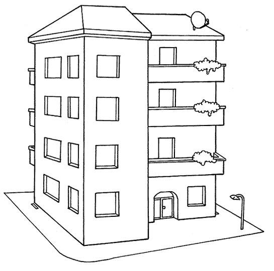 A hist ria das moradias atividades e modelos de casas for Colores para pintar un apartamento moderno