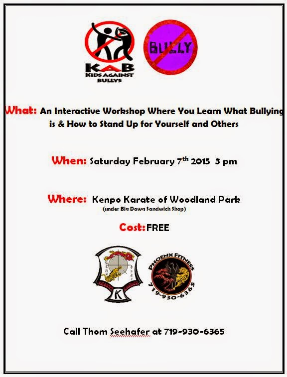 An Interactive Workshop Where You Learn   What Bullying is & How to Stand Up for Yourself and Others