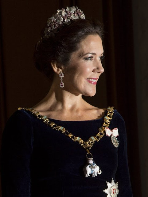Queen Margrethe and Prince Henrik, Crown Princess Mary and Crown Prince Frederik, Princess Marie and Prince Joachim