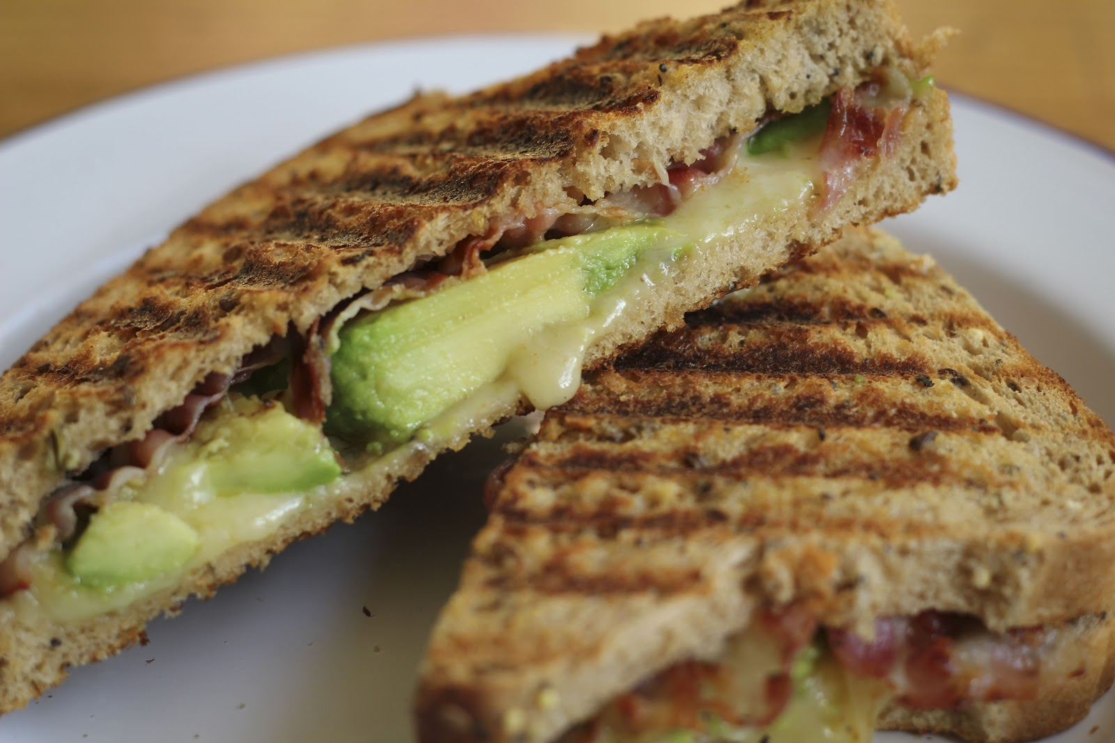 miss igs: Avocado & Bacon Grilled Cheese Sandwich