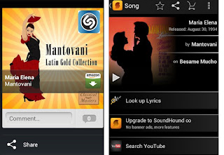 screenshot of SoundHound and Shazam on my phone