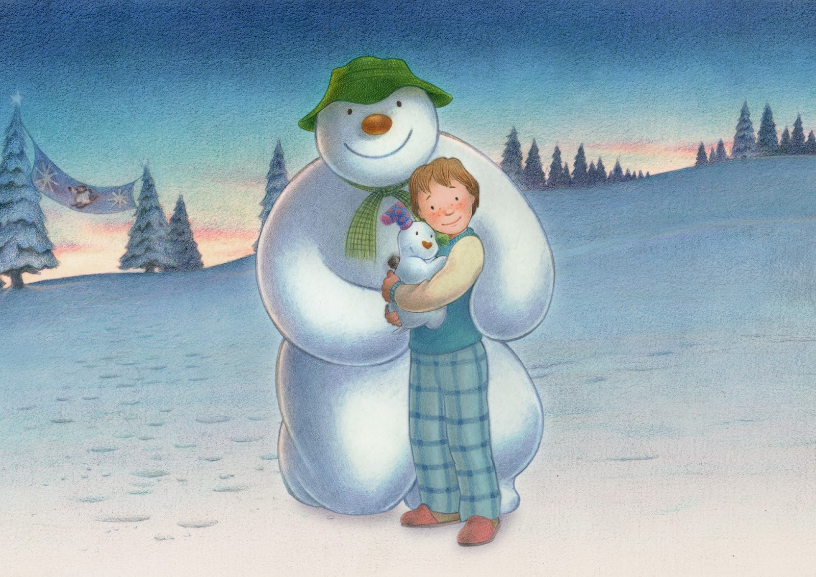 """the snowman The eloquent animated film """"the snowman"""" alongside our live performance of its  beautiful soundtrack, preceded by popular, kid-friendly activities in the lobby."""