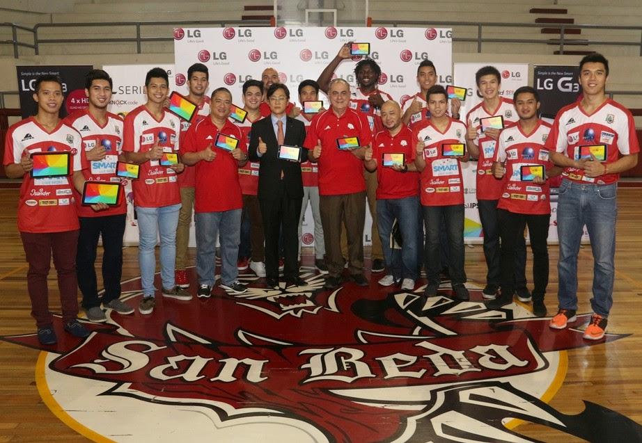 San Beda Red Lions, LG G Pad, Jay Won, Ryusei Koga, Baser Amer, Ola Adeogun, Arthur Dela Cruz, Jaypee Mendoza, Kyle Pascual, Ranbill Tongco