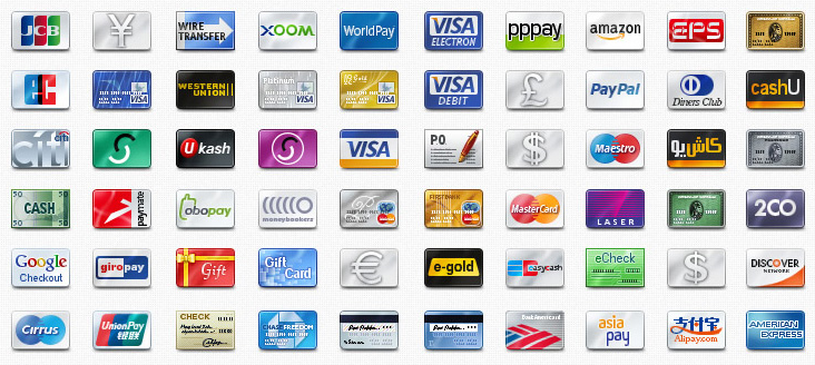 credit cards icon. 60 Credit Card Icons