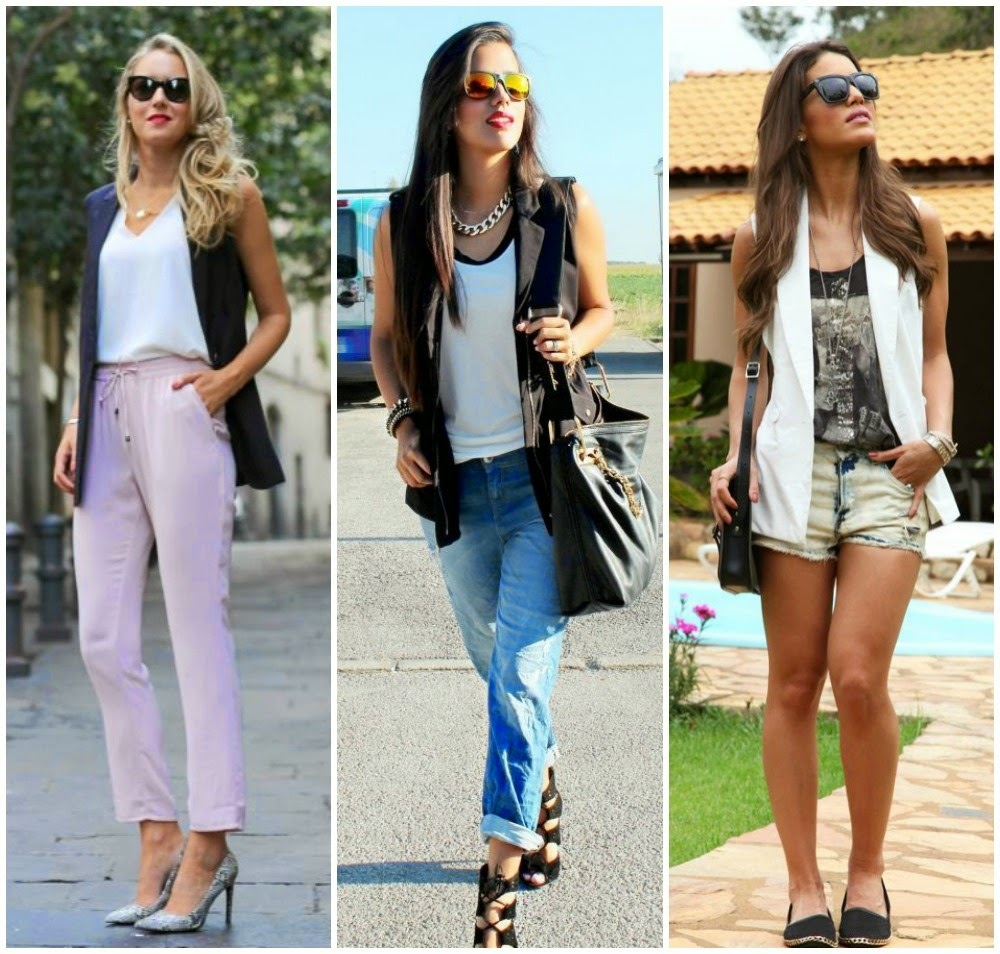 Outfit Blazer sin Mangas