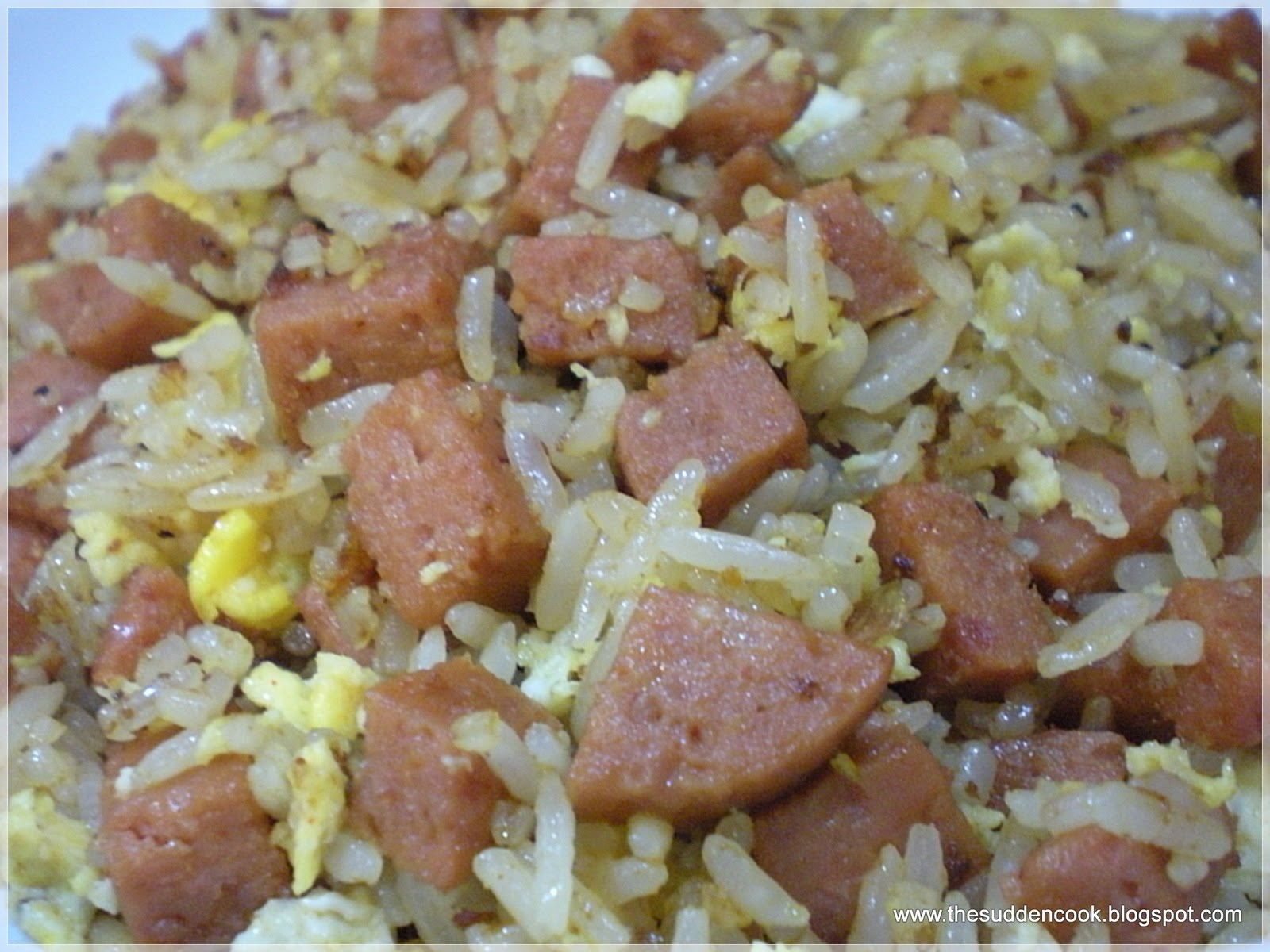 The sudden cook a malaysian blog focusing on simple and easy recipes luncheon meat fried rice ccuart Choice Image