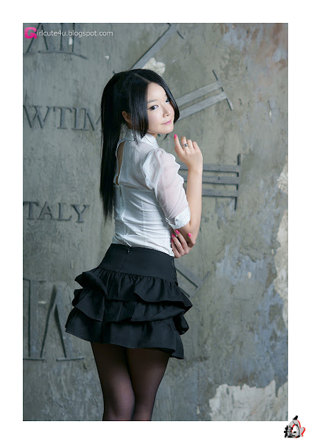 4 Lee Eun Seo - White Sheer and ruffle skirt-very cute asian girl-girlcute4u.blogspot.com