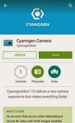 Aplikasi Cyanogen Camera Hadir di Google Play Store