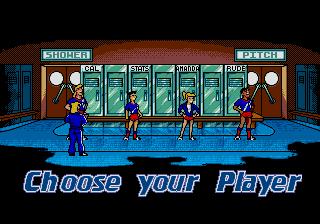 Hurricanes Sega Genesis Mega Drive character select screen