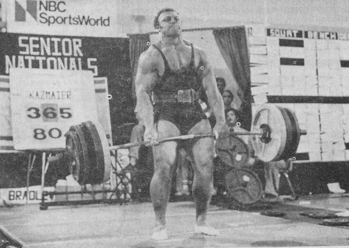 The Tight Tan Slacks Of Dezso Ban Squat And Deadlift Bill Kazmaier