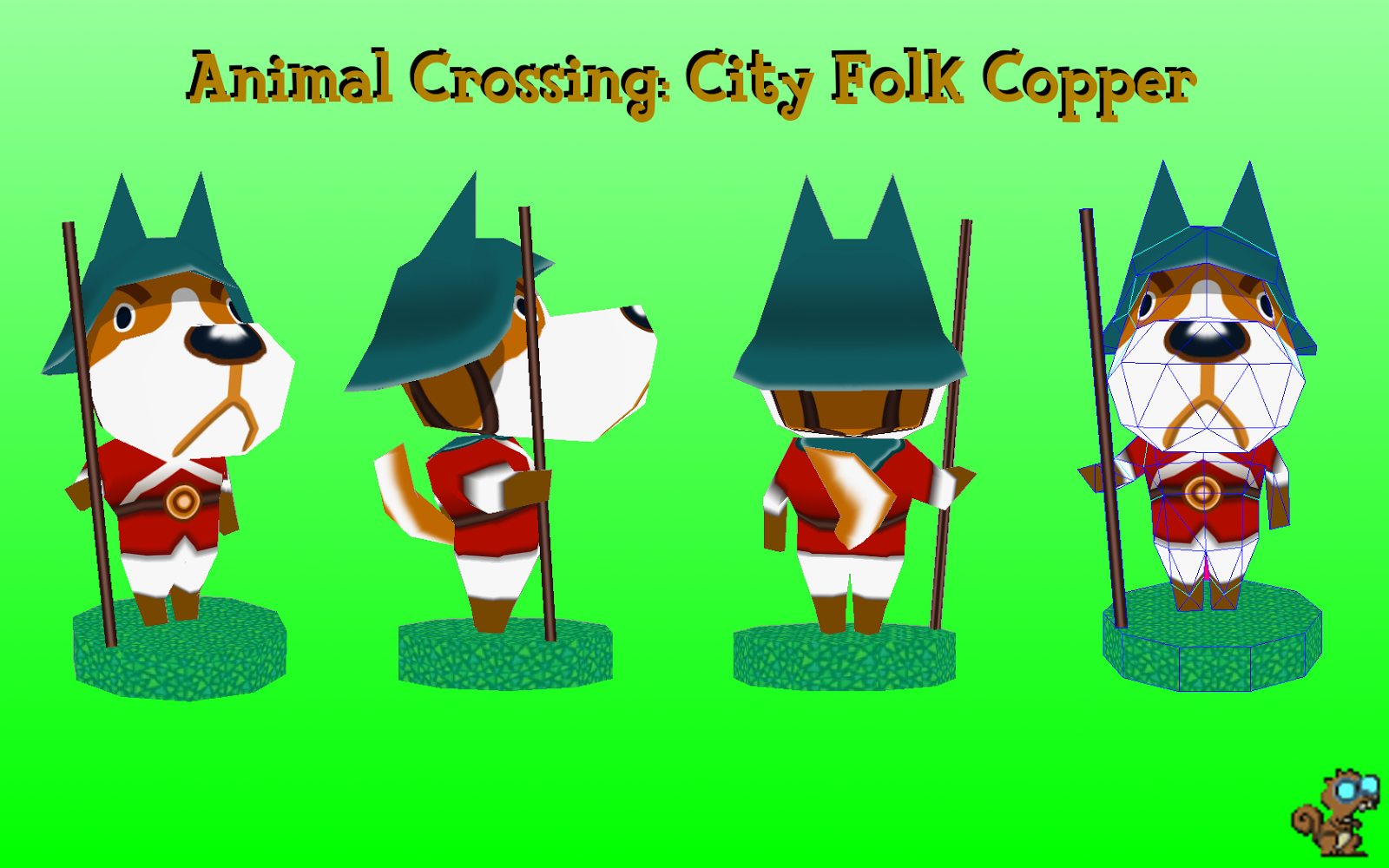 Animal Crossing Copper Papercraft