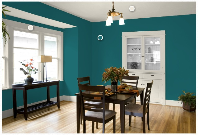 Virginia and charlie dining room update for Teal dining room decorating ideas