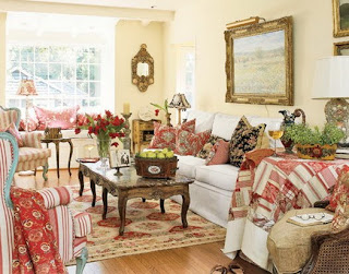 Beautiful French Country Living Room Designs