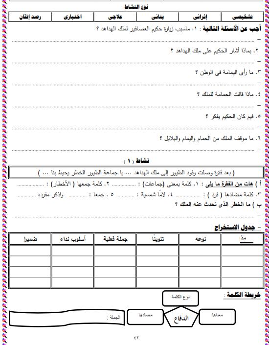 شيتات المجموعة المدرسية لمادة اللغة العربية للصف الثالث الابتدائى على هيئة صور للمشاهدة والتحميل The%2Bthird%2Bunit%2B3%2Bprime_009