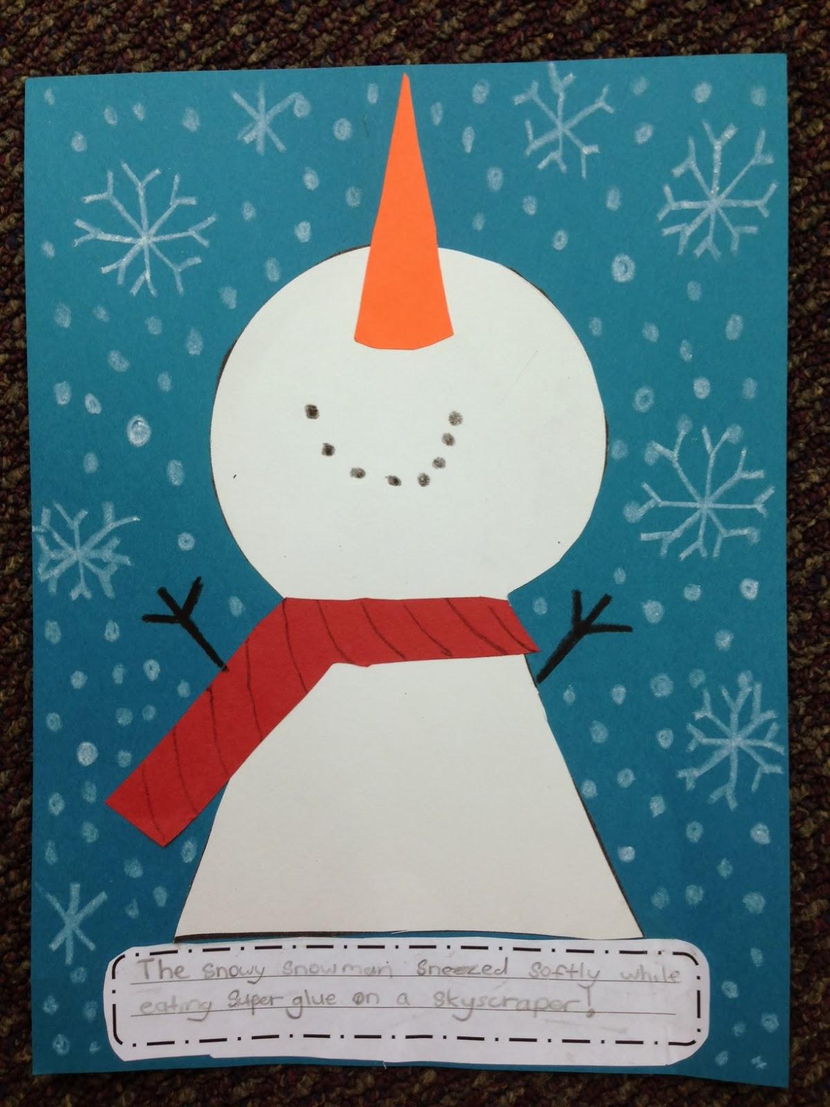 snowman alliteration apples and abc u0027s