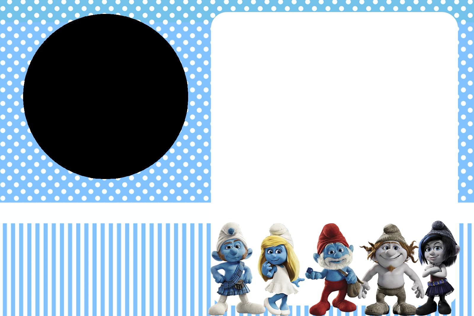 Free Smurf Boys Party Invitations.