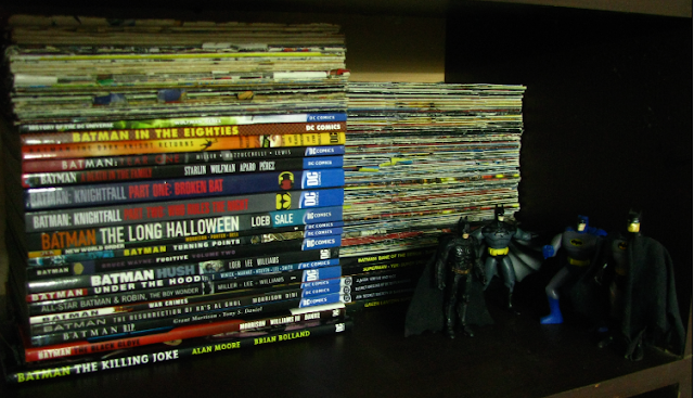 batman, collection, huge collection, lot of stuff, comics, graphic novels, original