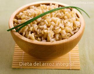 Dieta del arroz Integral: 4 kilos en 15 días