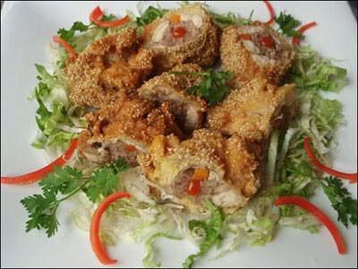 Bí quyết làm món Thịt gà tẩm vừng rán ngon