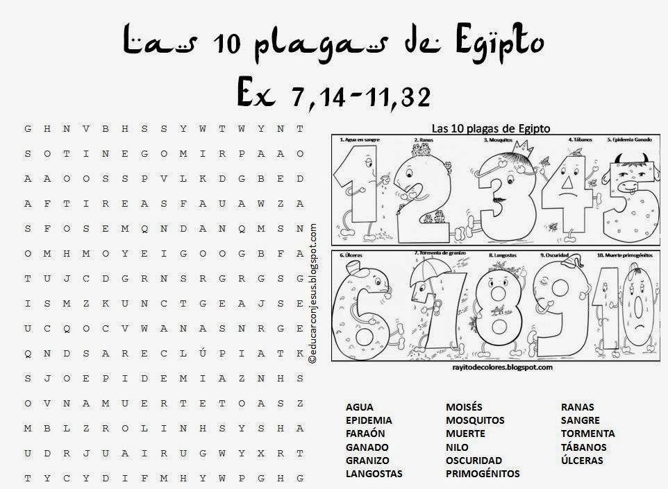 Sopa De Letras Sobre Moises Y Los 10 Mandamientos | MEJOR CONJUNTO DE