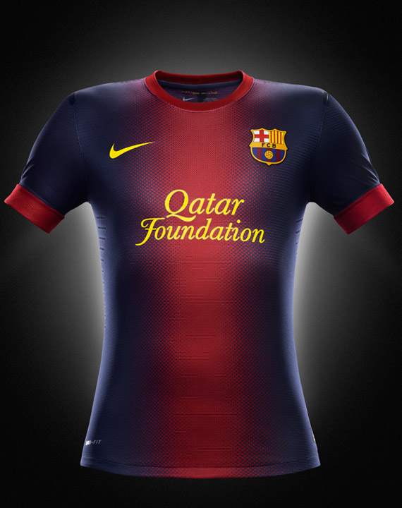 playera de local del barcelona 2012 - 2013