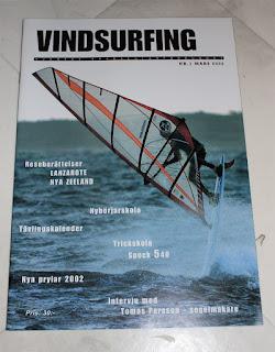 Tidningen Vindsurfing, totalt 3 nummer släppta