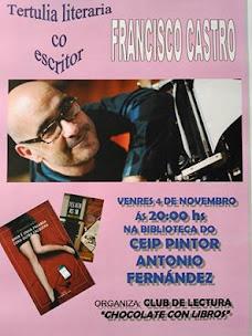 GOIÁN: VENRES DÍA 4 DE NOVEMBRO, ÁS 20:00 H., NA BIBLIOTECA DO CEIP PINTOR ANTONIO FERNÁNDEZ.