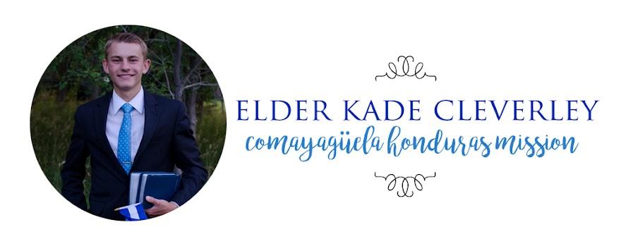 Elder Kade Cleverley Comayagüela Honduras Mission