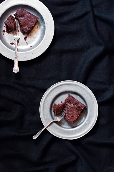 Fudgy Wudgy Raspberry Brownies on Plate