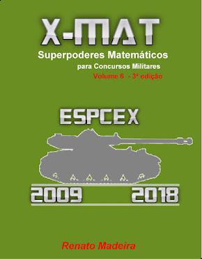 Livro X-MAT EsPCEx 2009-2018 (versão impressa) de R\$ 50,35 por R\$ 42,24.