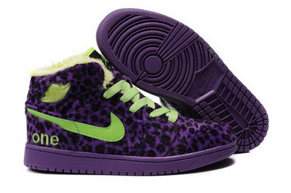 Green and Purple Air Jordans