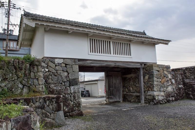 Backside of tower gate of Takenaka Jinya
