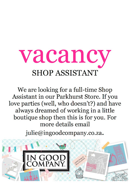GOOD NEWS - Vacancy in Parkhurst
