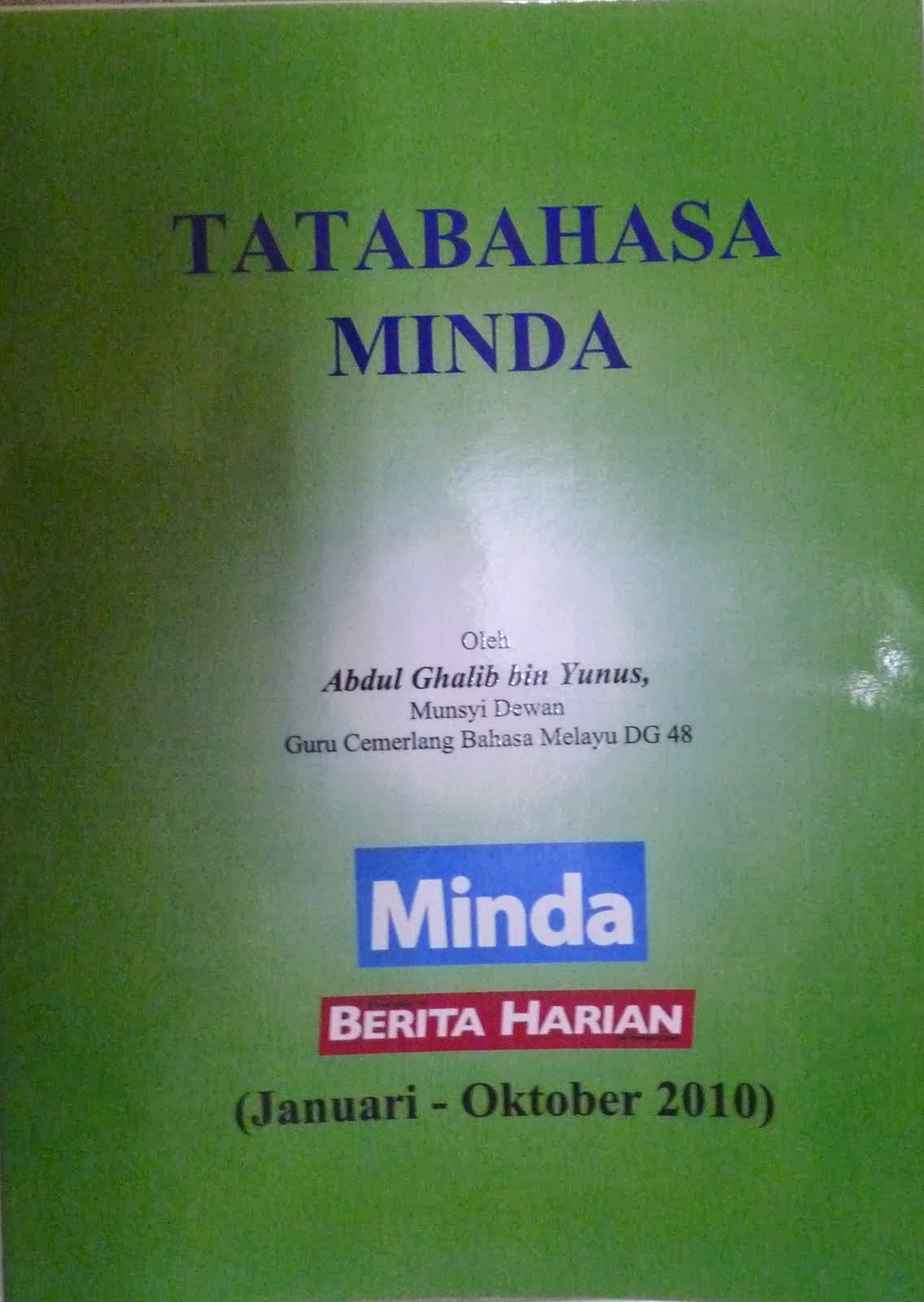 Buku `Tatabahasa Minda' (2010)