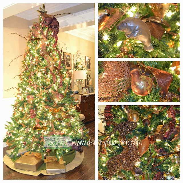 step by step how to decorate a christmas tree metallic copper brown