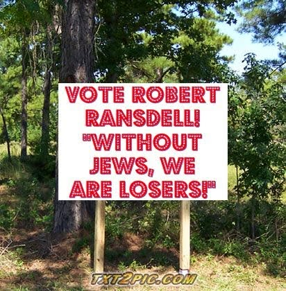 Vote for Robert Ransdell for Anti-Semite!