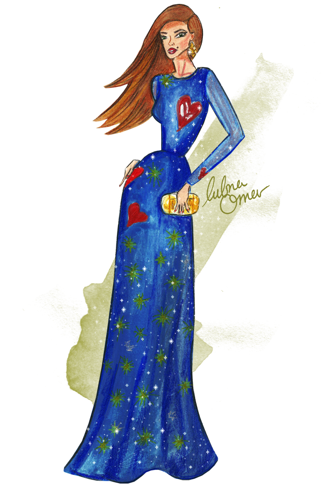 valentino dress fashion illustration
